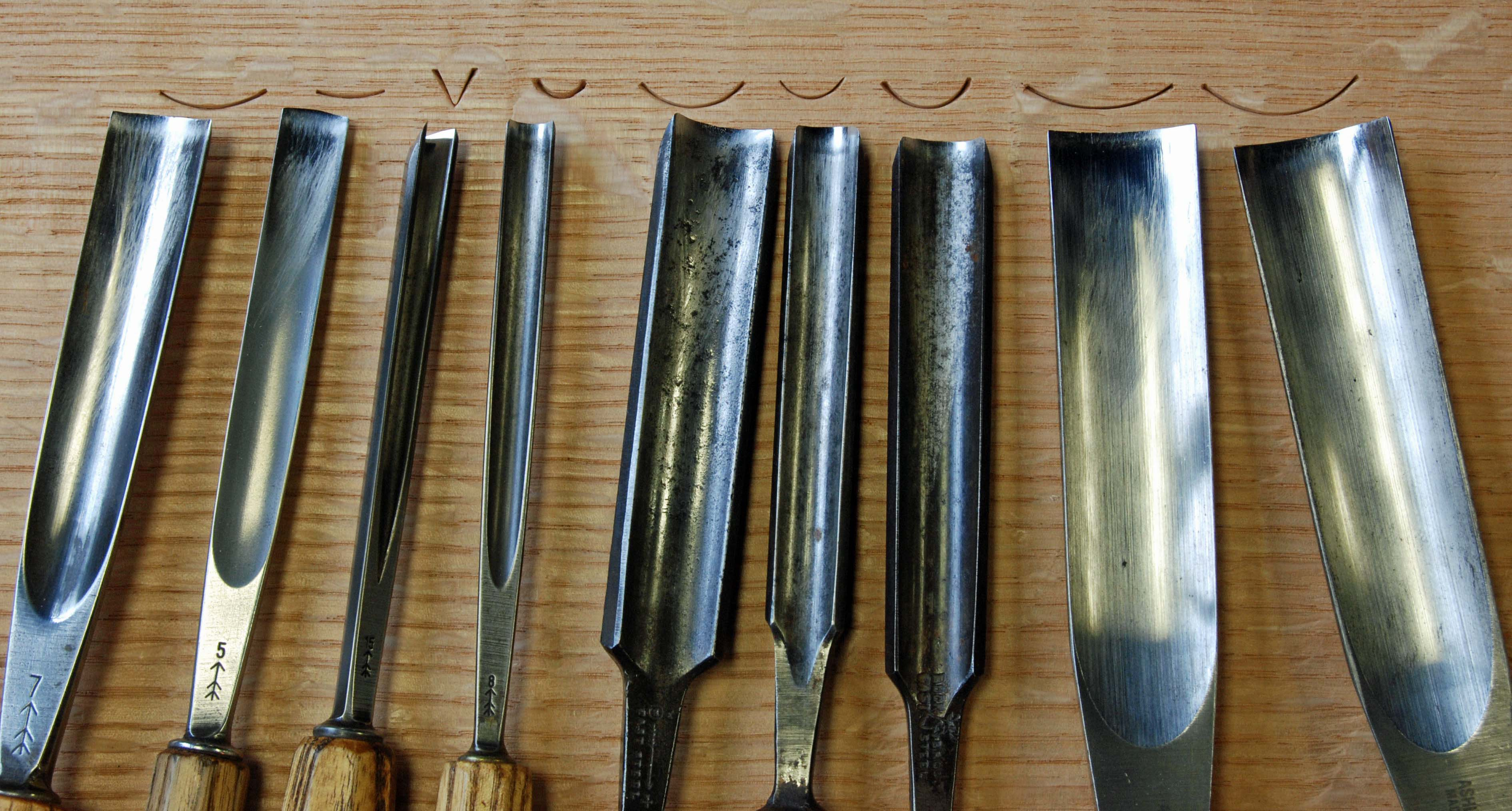 Carving tools i use for oak furniture peter follansbee