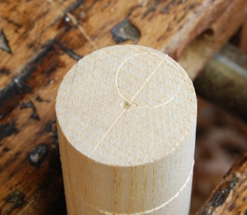 scribed round tenon off center