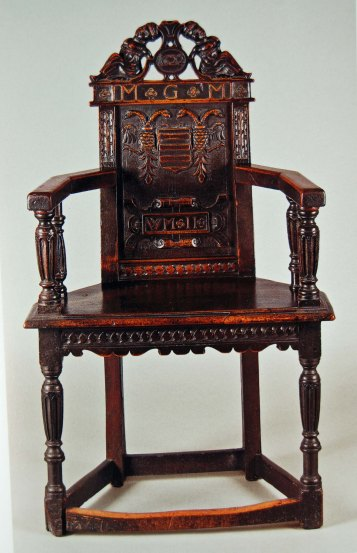 wainscot chair, walnut