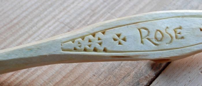 rose carving detail