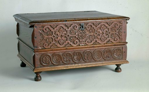 box with drawer, Ipswich, Massachusetts, made between 1663-1706