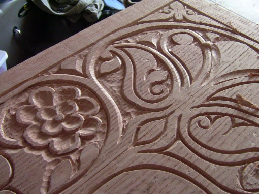 carved panel detail
