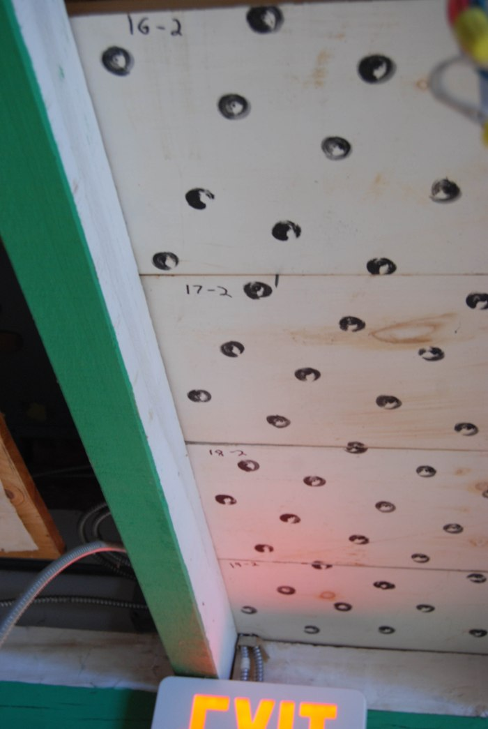 ceiling boards in place
