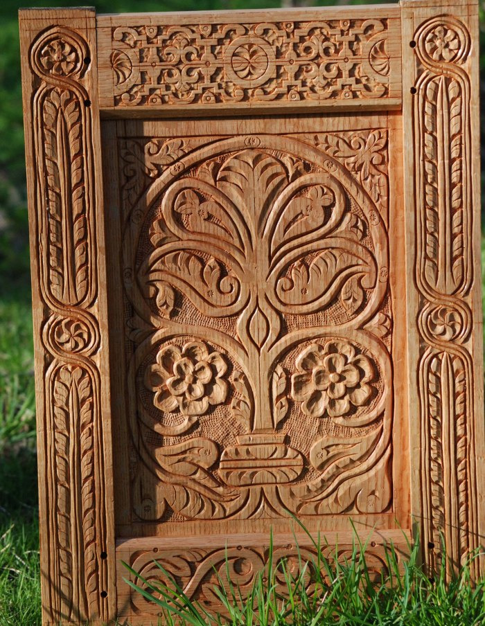 Carved oak frame panel class this weekend peter