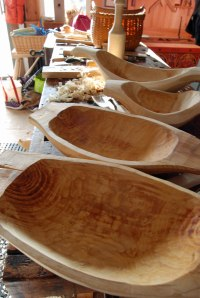 row of bowls