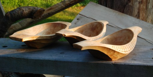 hewn bowls