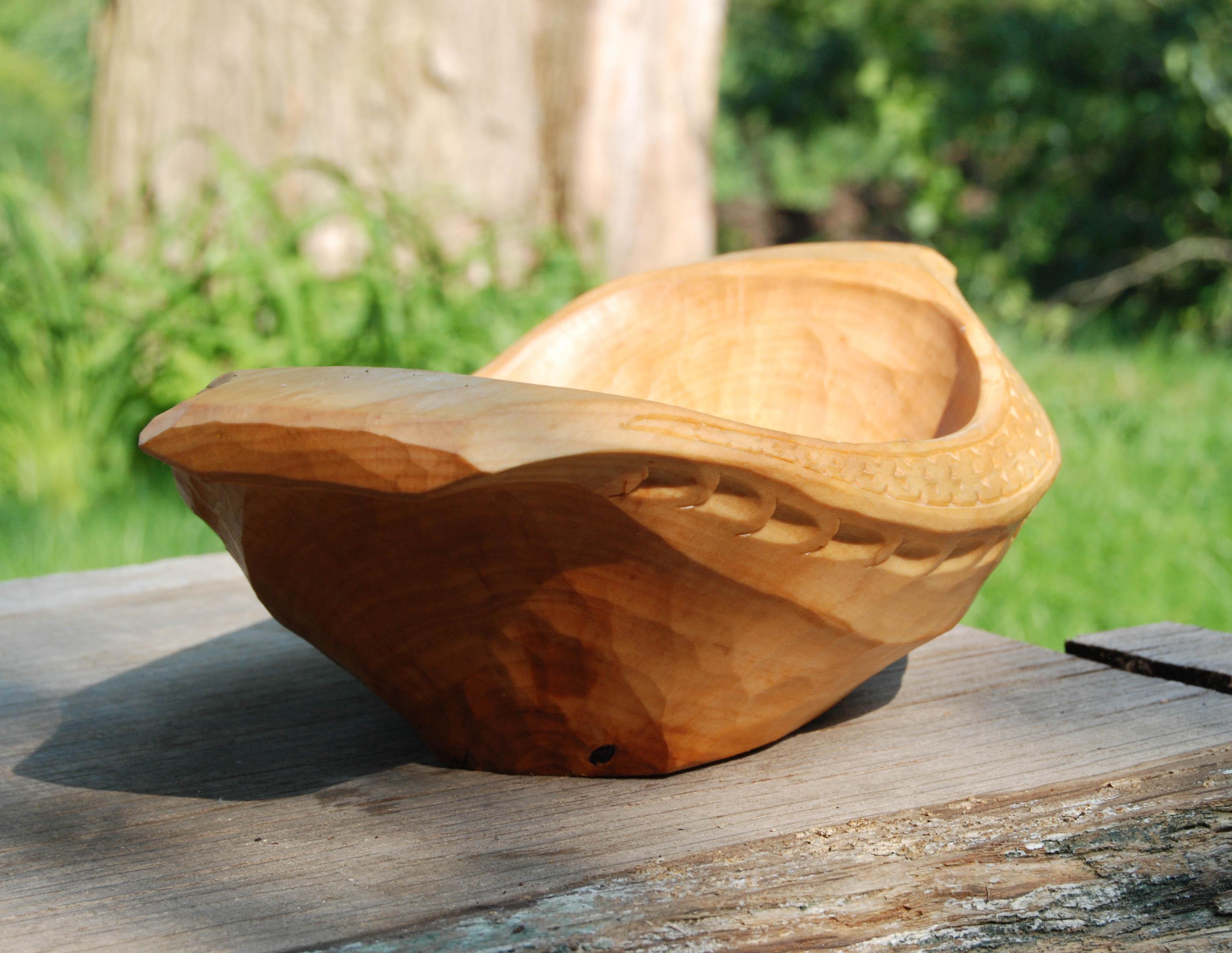 birch bowl upside down detail