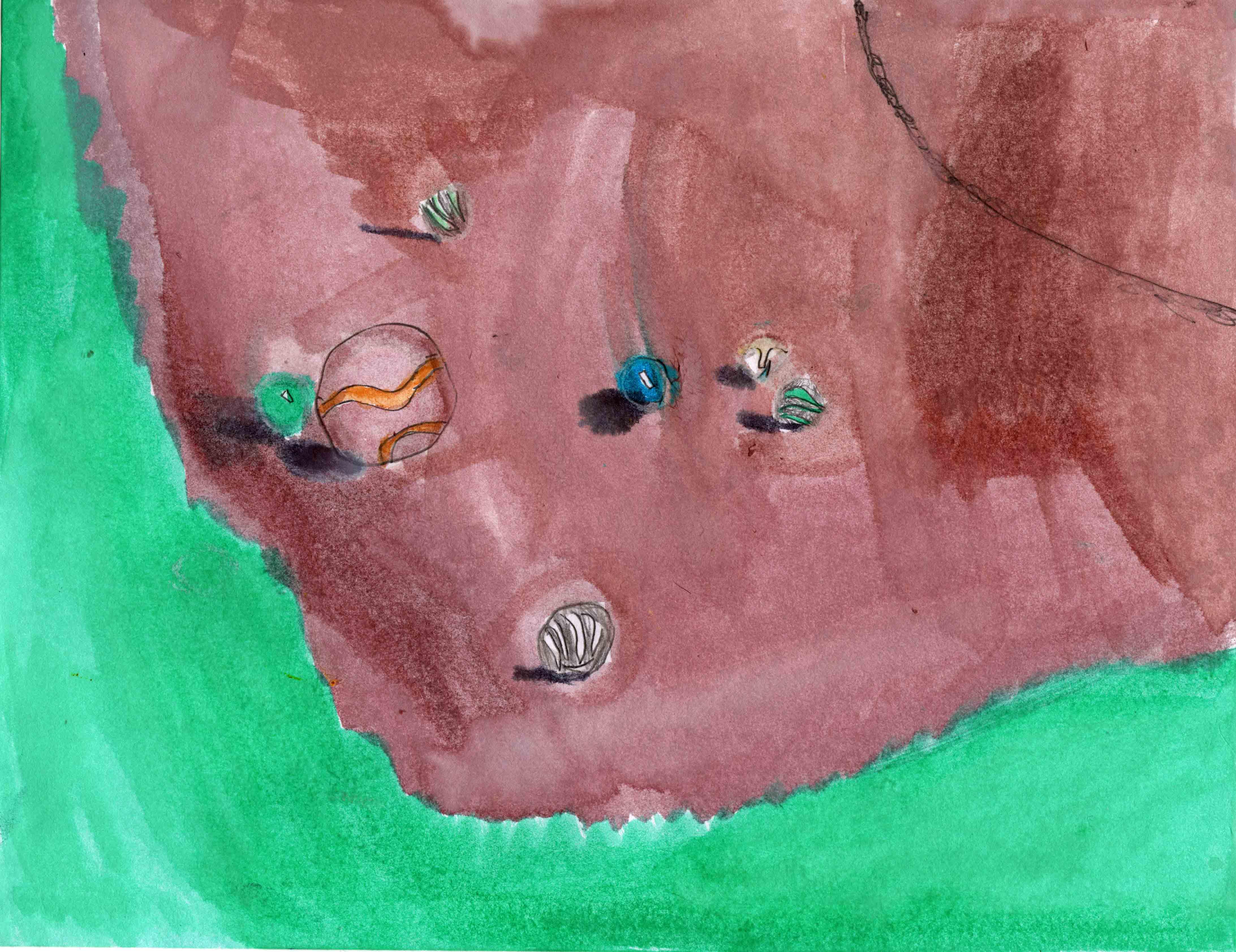 daniesl watercolor marbles