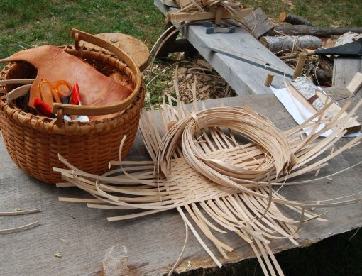 ready to weave filled bottom baskets
