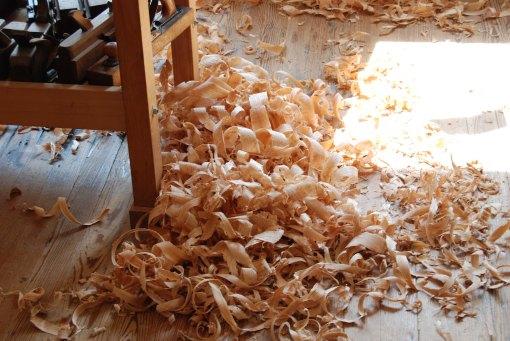 shavings pile up