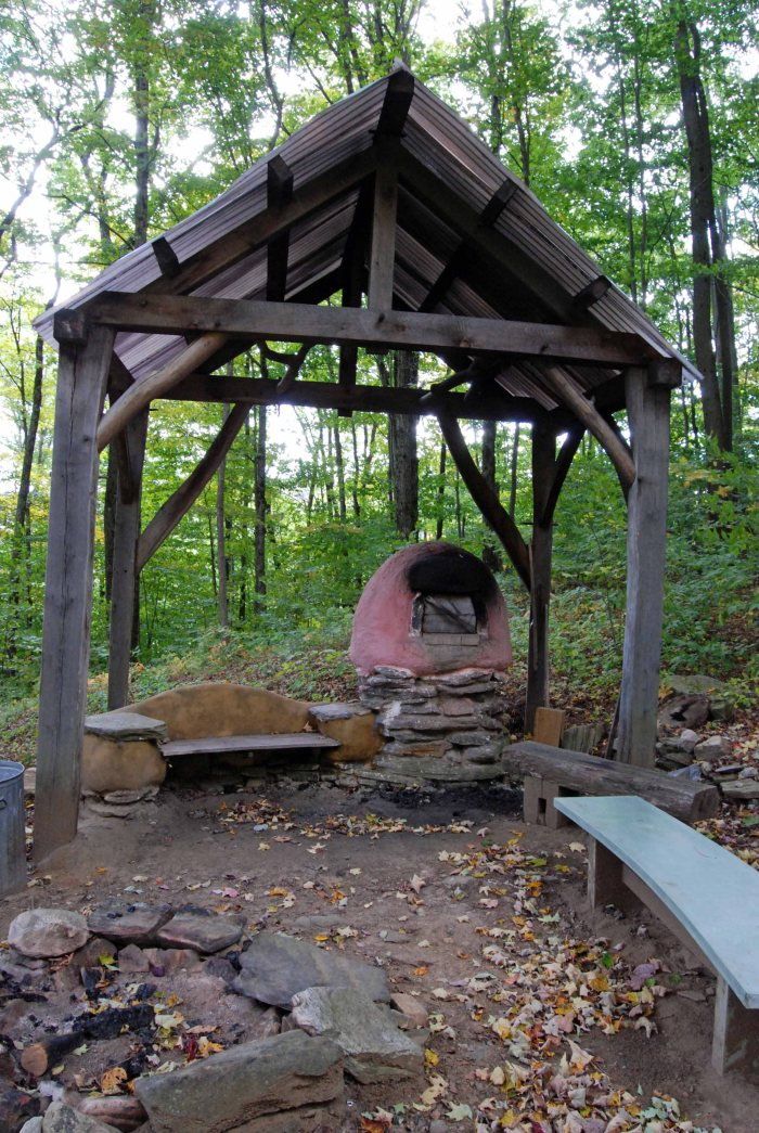 pizza oven & shelter