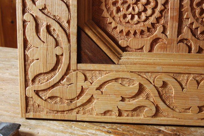 carved frame & panel CT detail