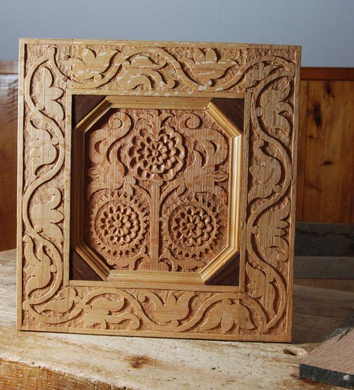 carved panel & frame CT