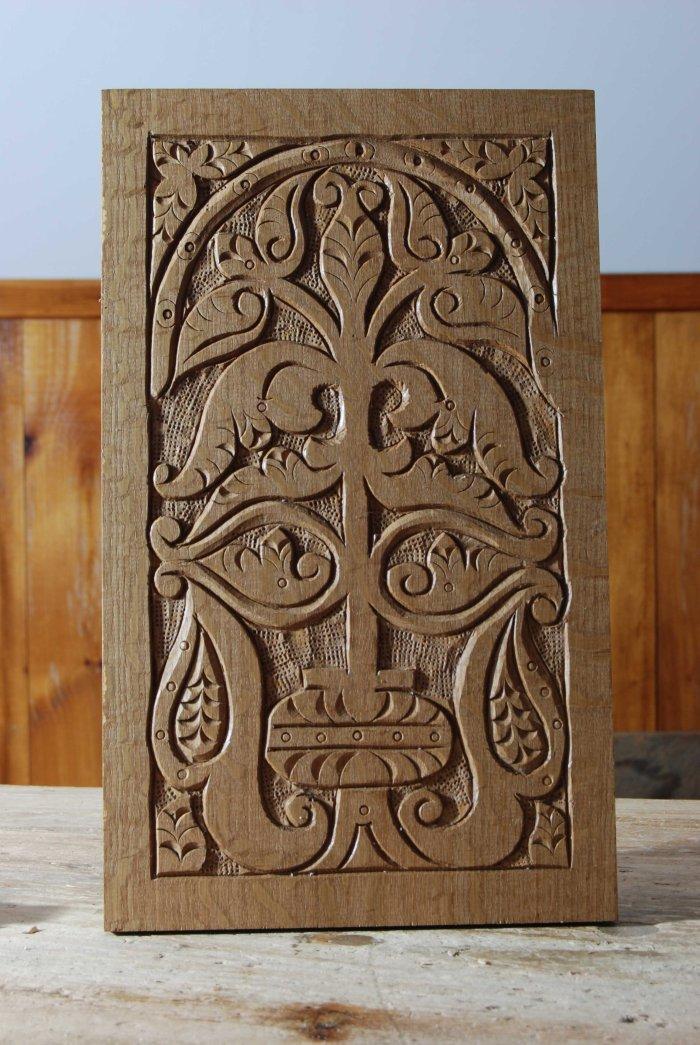 carved panel no frame 14-01