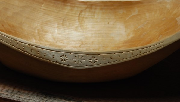 hewn bowl 14-05 carving