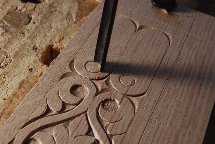 carved rail