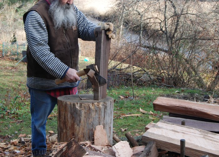 hewing walnut