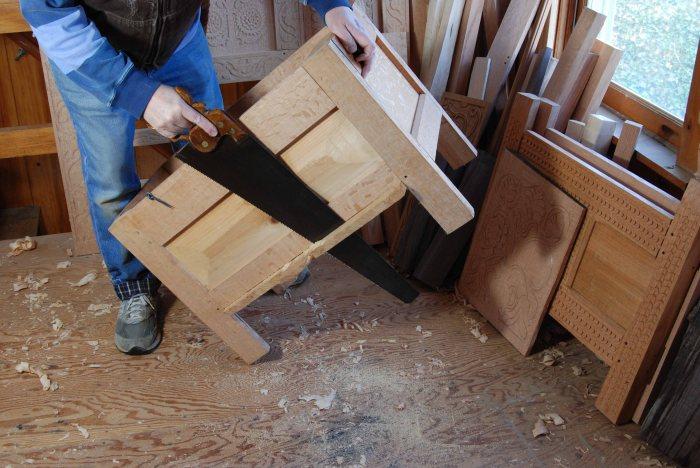 trimming floor boards