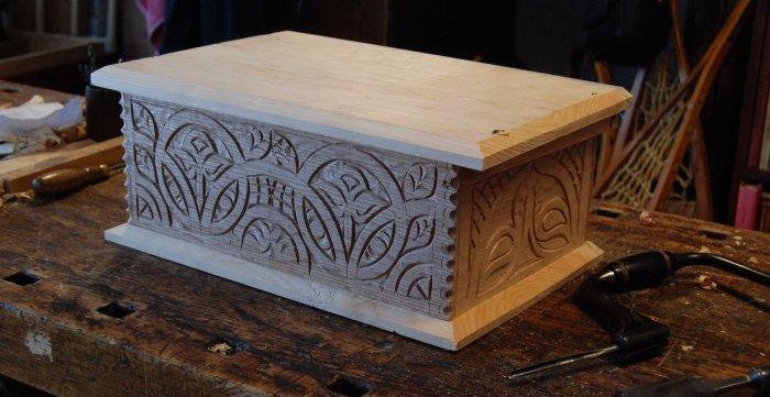 oak & pine box