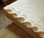 lid detail in pine
