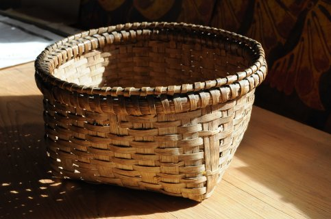 white oak basket top