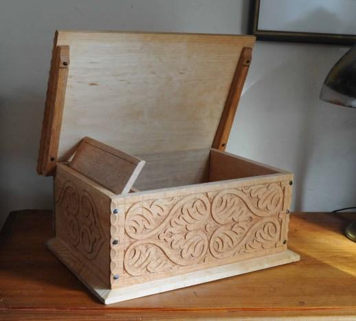 carved box till