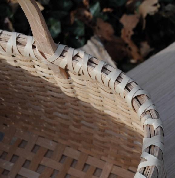 rect basket ash lashing rim