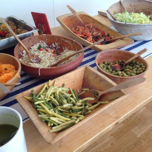 partial spread of food